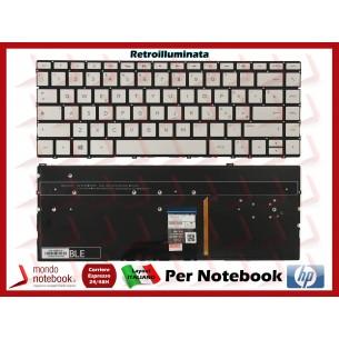Tastiera Notebook HP 13-AE (Silver) Retroilluminata - Italiana