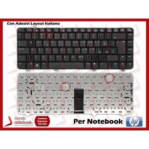 Tastiera Notebook HP 500 510 520 511 515 516 530 610 615 (flat Corto) con adesivi...