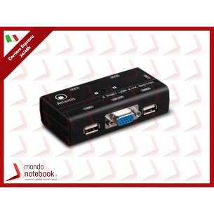 KVM SWITCH USB ATLANTIS P021-MT200-U 2P - Supporto mouse e tast. Interr. x cambio...