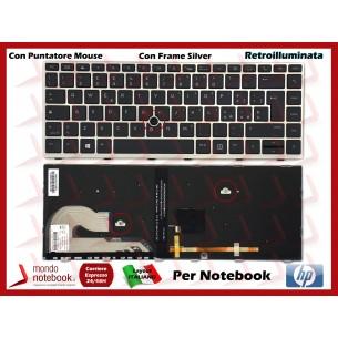 Tastiera Notebook HP EliteBook 840 G5 846 G5 745 G5 ZBook 14u G5 Frame Silver -...