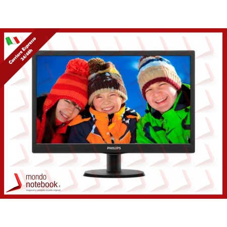 "MONITOR PHILIPS LED 18.5"" Wide 193V5LSB2/10 0,3 1366x768 5ms 200cd/mq..."