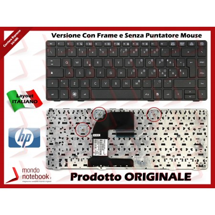 Tastiera Notebook HP EliteBook 8460p 8460w 8470p 8470w ProBook 6470b 6475b (FRAME NERO)...