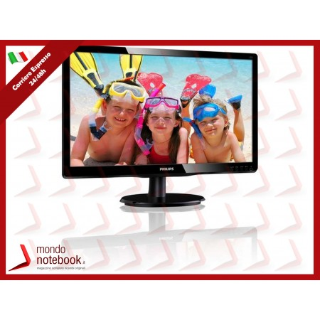 "MONITOR PHILIPS LED 19.5"" Wide 200V4QSBR/00 MVA  0,27 1920x1080 8ms 250cd/mq 3000:1..."