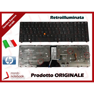 Tastiera Notebook HP Elitebook 8760W 8770W series con Trackpoint Retroilluminata (Nera)