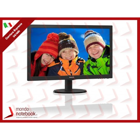 "MONITOR PHILIPS LED 23.6"" Wide 243V5QHSBA/00 MVA 1920x1080 Full HD 8ms 250cd/m²..."