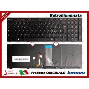 Tastiera Notebook Lenovo IdeaPad G50-30 G50-70 (Frame Nero) (Retroilluminata)