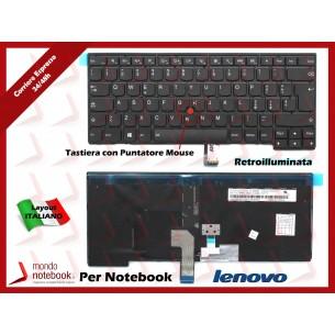 Tastiera Notebook Lenovo ThinkPad T440 T440P Retroilluminata con Trackpoint