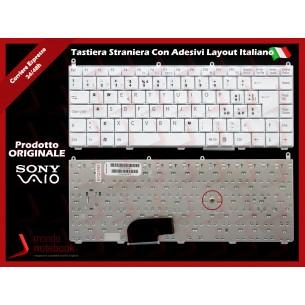 Tastiera Notebook Sony VGN-FE VGN-AR (BIANCA) Con ADESIVI LAYOUT ITALIANO