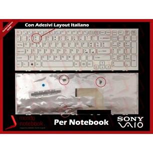 Tastiera Notebook Sony VPC-EL VPCEL (BIANCA) Con ADESIVI LAYOUT ITALIANO