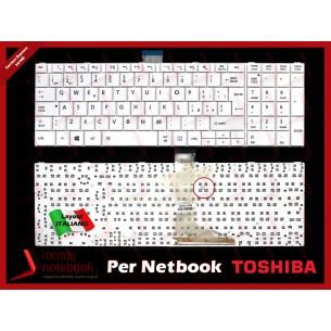 Tastiera Notebook TOSHIBA Satellite C850 C855 L850 L855 P850 P855 (BIANCA) SENZA FRAME