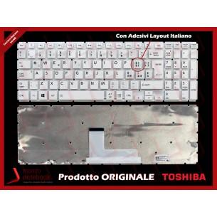 Tastiera Notebook TOSHIBA Satellite L50-B L50D-B L50-D (BIANCA) CON ADESIVI LAYOUT...