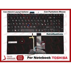 Tastiera Notebook TOSHIBA Tecra A50-C (NERA) con ADESIVI LAYOUT ITALIANO