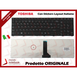 Tastiera Notebook TOSHIBA Tecra R850 R950 R960 (FRAME) (NERA) con ADESIVI LAYOUT ITA