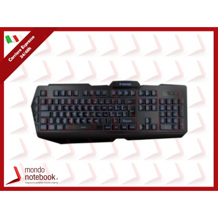 TASTIERA TRITON by Atlantis K400 GAMING retroilluminaz 3colori,USB,AntiGhosting fino a...