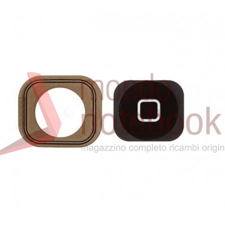 Tasto Home + Guarinizione Apple iPhone 5 (NERO)