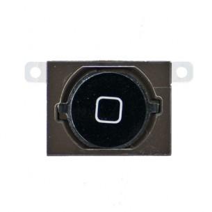 Tasto Home + Guarnizione iPhone 4S Home Button with Spacer (NERO)