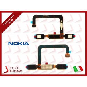 Tasto Home Nokia 6 completo di Flat Flex (Nero)