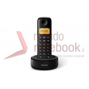 TELEFONO PHILIPS CORDLESS D1301B/23 Black DECT display alfanum. retoill., ID chiamate,...