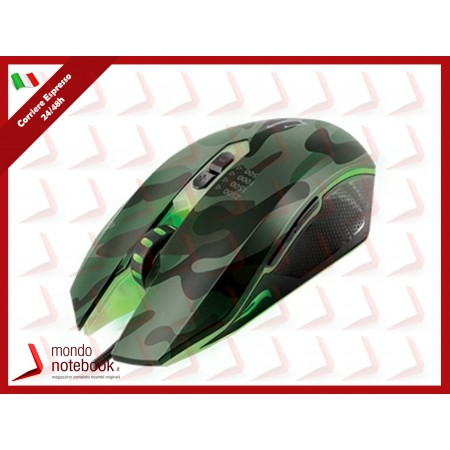 MOUSE TRITON by Atlantis P009-X700 GAMING Ottico 4risoluz fino a 2500dpi,luce LED...