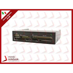 "MULTICARD READER ATLANTIS P005-CAN-B INTERNO 3,5"" 35 IN 1 USB Black"