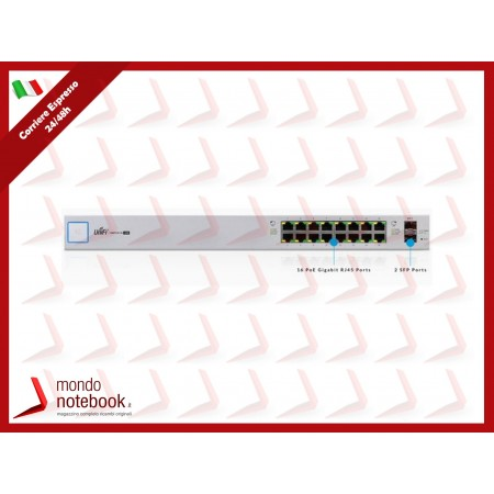 UniFI UBIQUITI Switch 16 porte, 150Watt - US-16-150W -