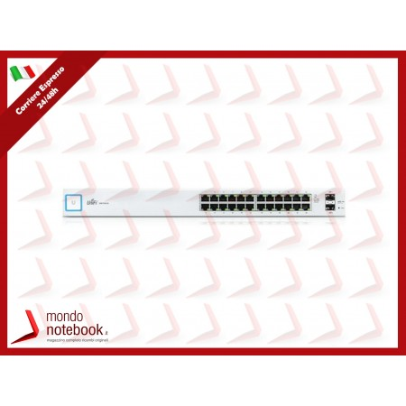 UniFI UBIQUITI Switch 24 porte Gigabit Ethernet con SFP, no PoE, US-24