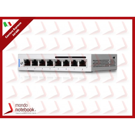 UniFi UBIQUITI Switch 8 porte LAN GIGABIT, 60Watt - US-8-60W - MANAGED 4P POE