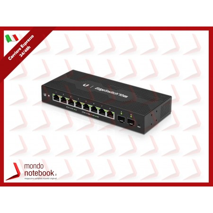 UniFi UBIQUITI Switch 8 porte LAN GIGABIT, ES-10XP-EU L2 EDGEMAX ES-10XP 2X SFP- POE OUT
