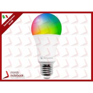 LAMPADA LED ATLANTIS A17-SB13-RGBW BULBO WIFI WL E27 13W 1100 LUMENS RGB/Luce...
