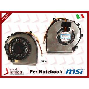 Ventola Fan CPU MSI GE62 GE72 PE60 PE70 GL62 GL72 (Versione 3 Pin)