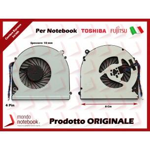 Ventola Fan CPU TOSHIBA L50 L55 Fujitsu A514 A544 (Versione 1) 8 Cm - 4 Pin