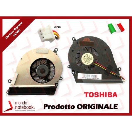 Ventola Fan CPU TOSHIBA Satellite A200 A205 A210 A215 A350 A355 (per INTEL)