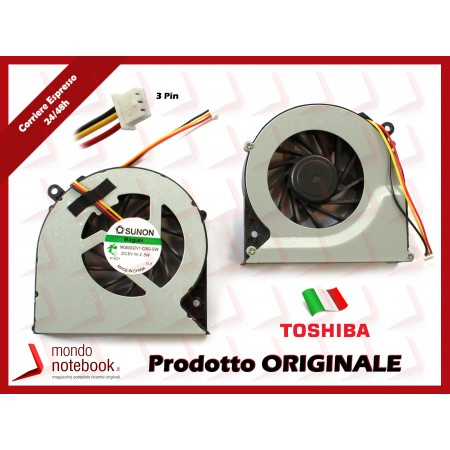 Ventola Fan CPU TOSHIBA Satellite L850 L870 C850 C855 C870 C875  (Versione 3 PIN)