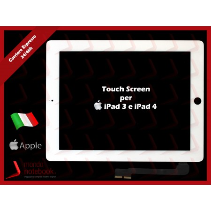 Vetro Touch Screen APPLE iPad 4 (BIANCO) White Touchscreen