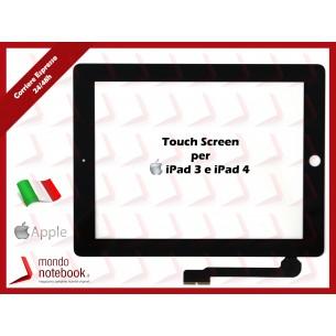 Vetro Touch Screen APPLE iPad 4 (NERO) Black Touchscreen