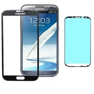 Vetro Vetrino per Smartphone SAMSUNG Galaxy NOTE 2 N7100 + BIADESIVO (GREY)