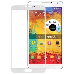 Vetro Vetrino per Smartphone SAMSUNG Galaxy NOTE 3 N9000 N9005 + BIADESIVO (Bianco)
