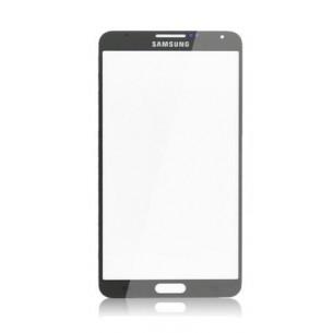 Vetro Vetrino per Smartphone SAMSUNG Galaxy NOTE 3 N9000 N9005 + BIADESIVO (Nero)