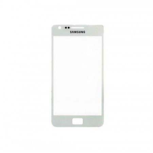 Vetro Vetrino per Smartphone SAMSUNG Galaxy S2 i9100 + BIADESIVO (BIANCO)