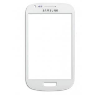 Vetro Vetrino per Smartphone SAMSUNG Galaxy S3 MINI i8190 (Bianco)