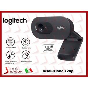 Webcam Logitech C270 HD 720P Smart Working Per Skype