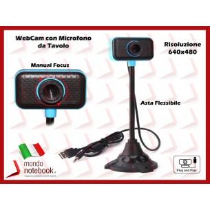 Webcam per Skype Risoluzione 640x480 VideoCamera da Tavolo con Asta Flessibile