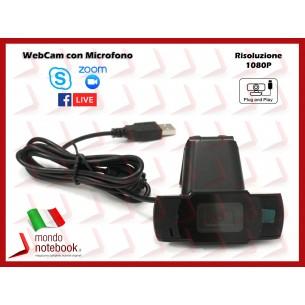 Webcam Risoluzione 1080P VideoCamera Smartworking per Skype