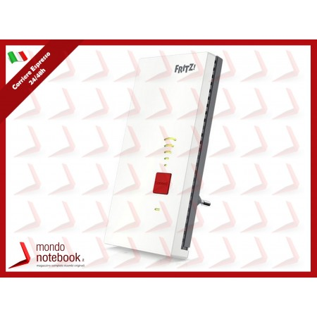 WIFI RANGE EXTENDER FRITZ! REPEATER 2400 WIRELESS con Mesh Repeating 2.4/5GHZ IEEE...