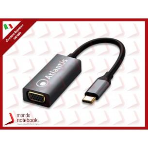 ADATTATORE ATLANTIS A04-TC_VGA da USB TYPE_C a VGA