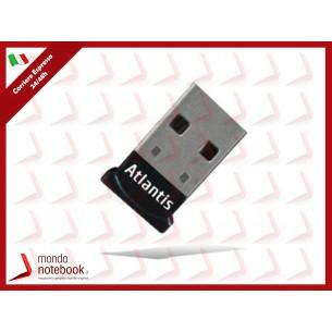 ADATTATORE ATLANTIS P008-USB06H Mini Bluetooth 4.0+EDR CLASSE-2 Connessione wireless a...