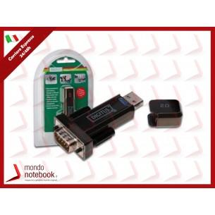 "ADATTATORE DIGITUS USB 2.0 ""A""/SERIALE RS232 9 PIN MASCHIO - CAVO PROLUNGA CM.80 INCLUSO"
