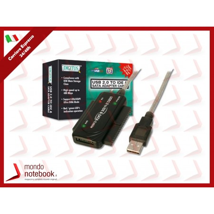 ADATTATORE DIGITUS USB2.0 - IDE E SATA con adattatore di alimentazione 220/12 Volt per...