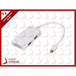 ADATTATORE LINK da MINI DISPLAYPORT MASCHIO a DVI-I(24+5)+HDMI+VGA FEMMINA