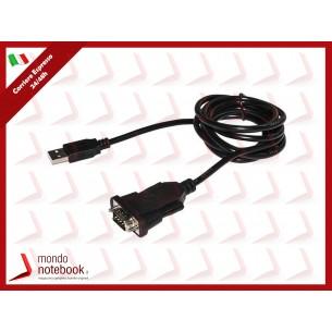 """ADATTATORE LINK DA PC USB 2.0 """"A"""" A PORTA SERIALE RS232 9 POLI CON CAVO"""